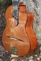 Gabriola Hot Alto Guitar: Gabriola Hot Alto side and heel view